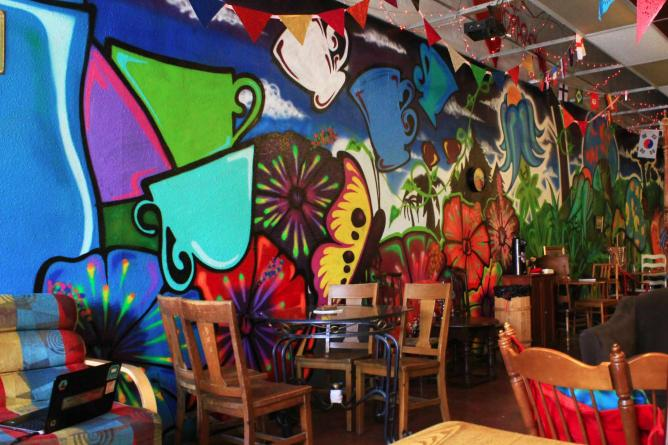 Artwork on the walls of The Red Dragon | © Justine Law
