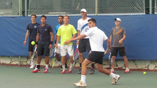 Training in the High Performance Program at the Israel Tennis Center in Ramat Hasharon   © Courtesy Israel Tennis Centers