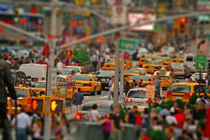 rush hour Downtown