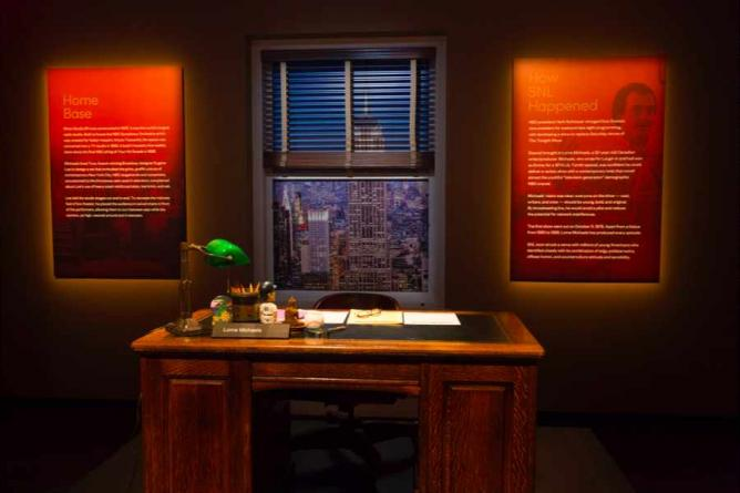 Lorne Michaels Desk | © Saturday Night Live: The Exhibition