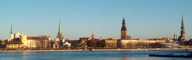 Riga's Old Town from the other side of the river   © Latj/Wikicommons