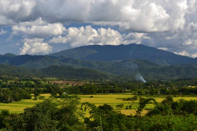 Mountain view of Pai