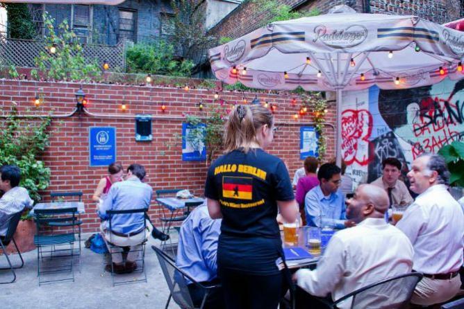 Beer Garden at Hallo Berlin | Image Courtesy of Hallo Berlin