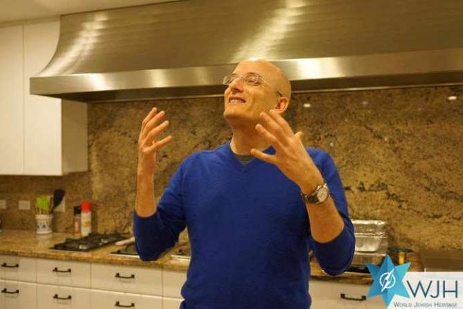 Food critic Gil Hovav talking about the unique Israeli cuisine | Courtesy of World Jewish Heritage