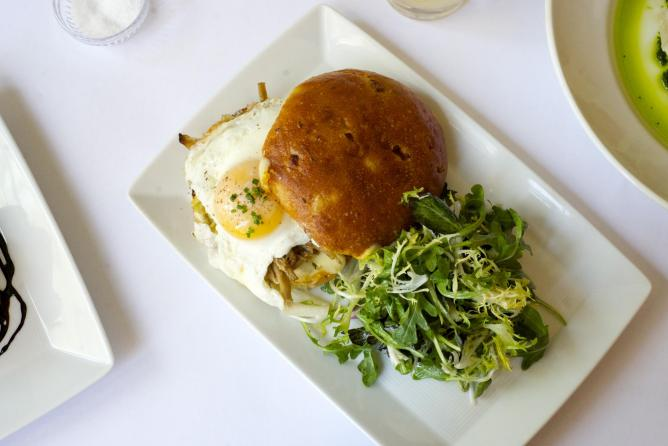 Pulled Pork and Egg Sandwich | Image courtesy of The Red Cat