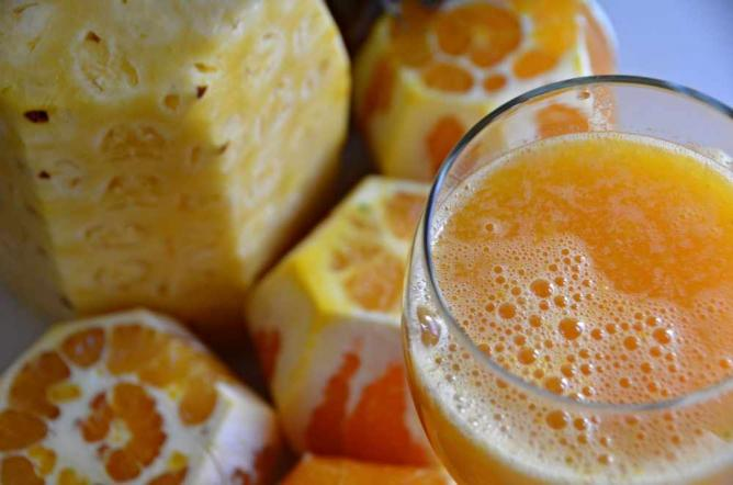 Fresh pressed organic juice