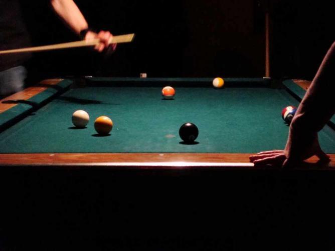 Play pool at Patron's