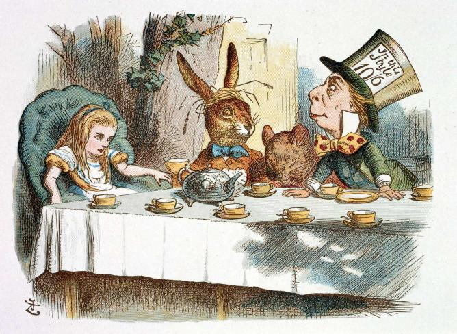 Alice at the Mad Hatter's Tea Party  © Stuart Rankin/ Flickr