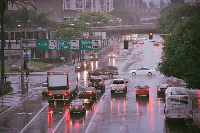 Rainy Days in LA © thehumorcolumnist