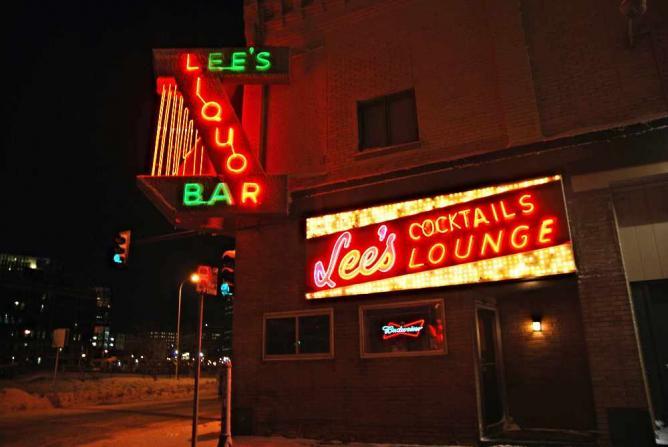 Outside Lee's Liquor Lounge