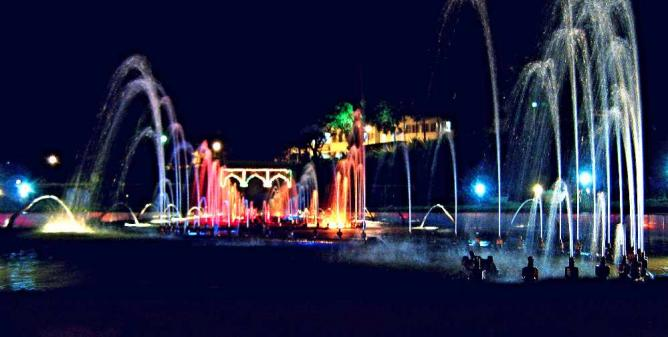 Fountains in Brindavan Garden, Mysore
