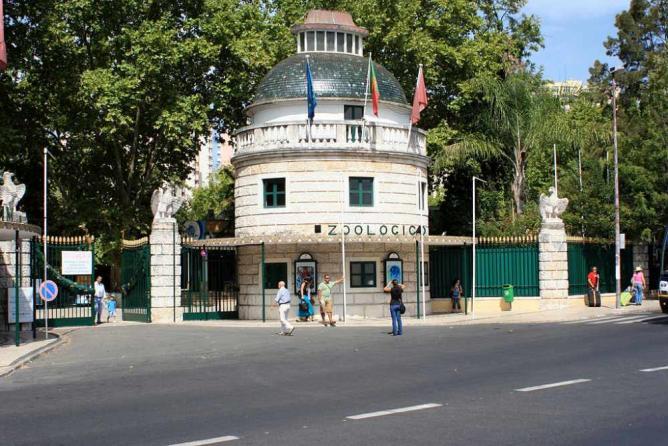 The entrance to Lisbon Zoo