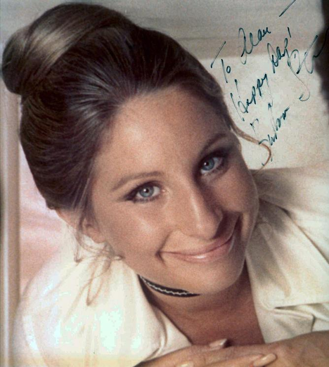 Autographed picture of Barbra Streisand, co-star of What's Up, Doc? | © Alan Light/Flickr