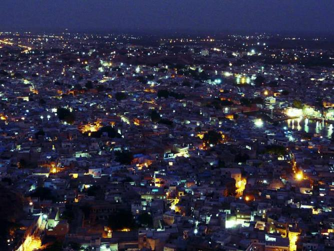 Jodhpur at night, from Mehrangarh Fort