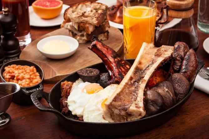 Breakfast for two | Courtesy Hawksmoor