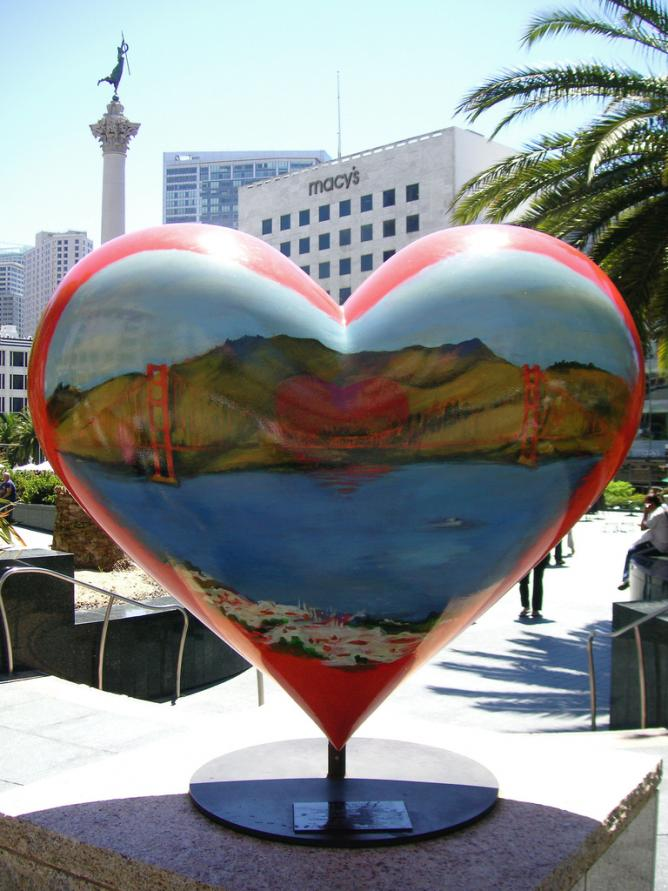 Tony Bennett's heart in San Francisco   © Beatrice Murch/Flickr