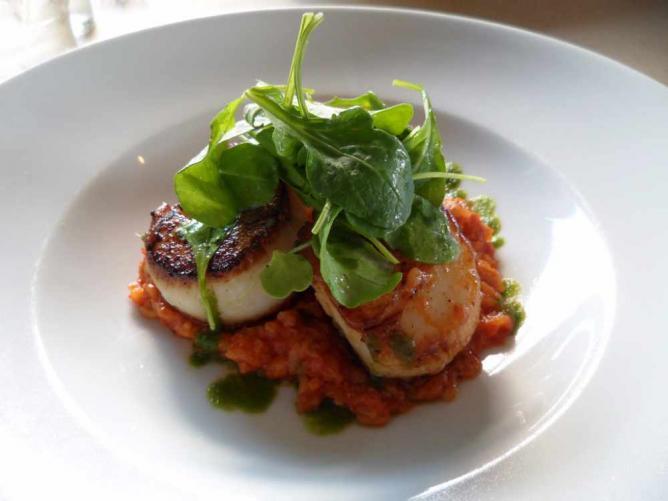 A sea scallop dish