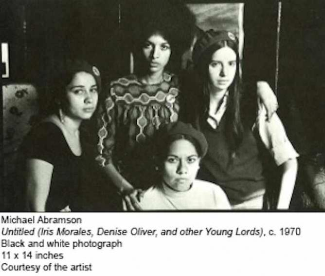 Untitled, Iris Morales, Denise Oliver, and other Young Lords, c. 1970   © Michael Abramson