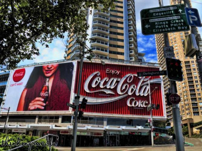 Coca-Cola billboard c.1976