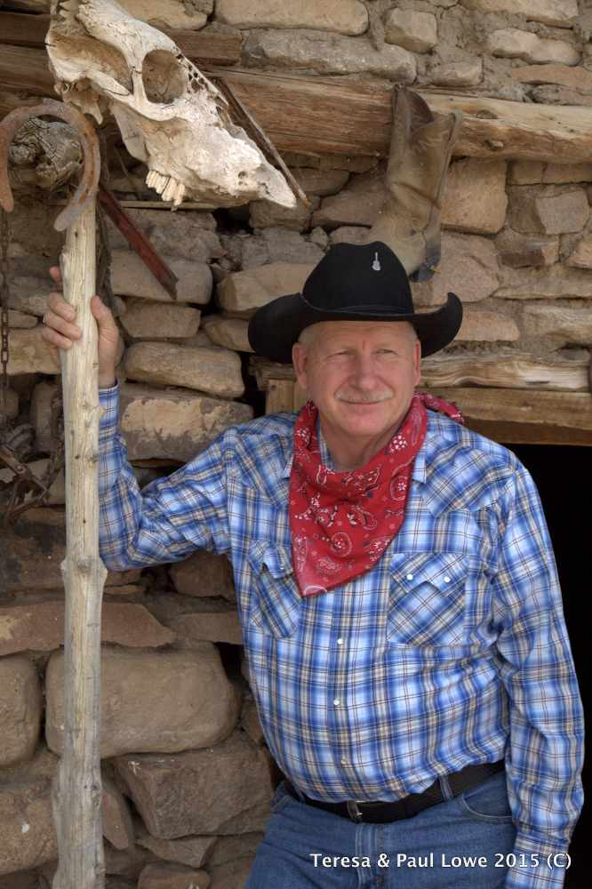 Meet Cowboy Casey L. Adams, the resident singing cowboy and historian of Grand Canyon Western Ranch