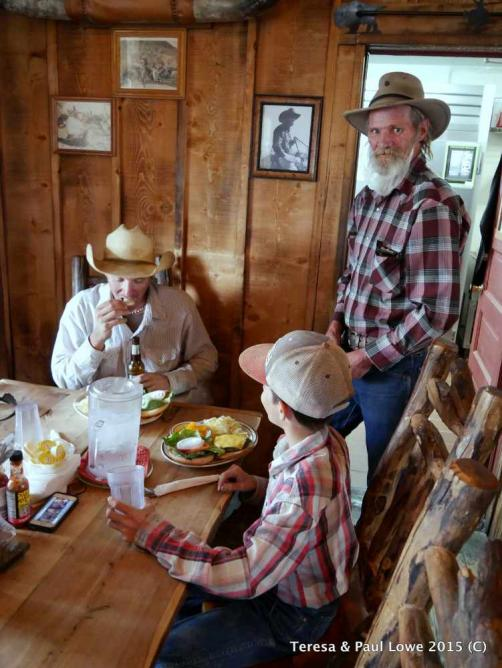 Here is one of the ranch chef serves guests hearty meals for breakfast and lunch.