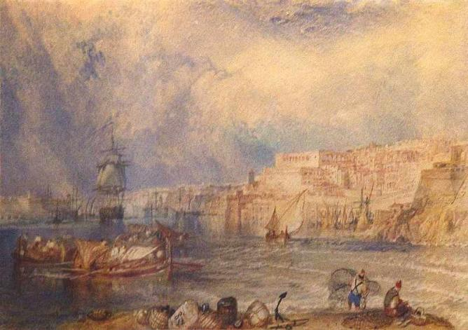 A Turner watercolour displayed in the museum