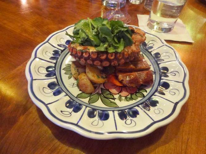 Octopus with chorizo from Bar Isabel, Toronto