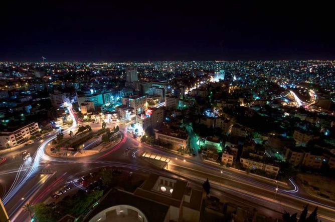 Amman at night   © Paul Stocker/Wikicommons