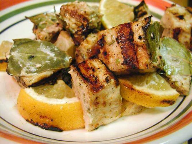 Marinated Grilled Swordfish