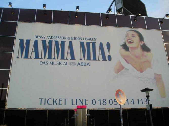 Mamma Mia billboard   © Edgar Zuniga Jr./Flickr