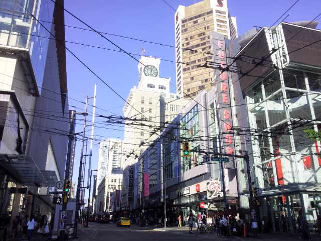 Vancouver's Robson Street | Courtesy of Olga Lenczewska