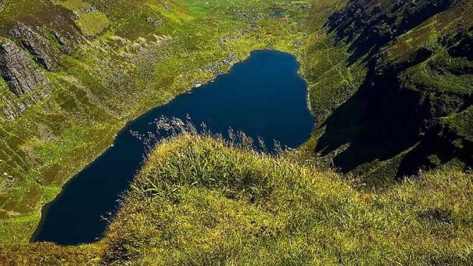 Coumshingaun - largest glacial lake in Ireland