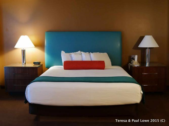Enjoy a good night's sleep in your colorful suite at The Rio All Suite Hotel