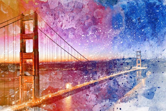 The Golden Gate Bridge in mixed media | © Nicolas Raymond/Flickr