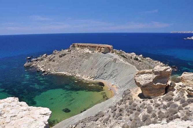 The cliffs overlooking Ġnejna Bay