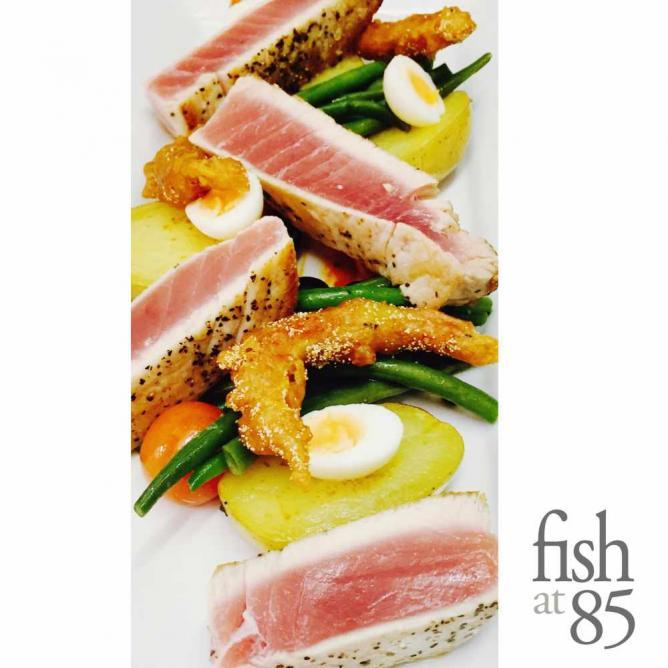 Fish at 85 menu option