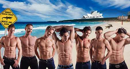 "Ladies wanting a new hip and really wild spot to cut loose at a bachelorette party or to enjoy an evening out with the girls, the ""Aussie Hunks Show"" just might be the place."