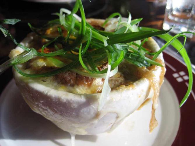 French onion soup at Clinkerdagger