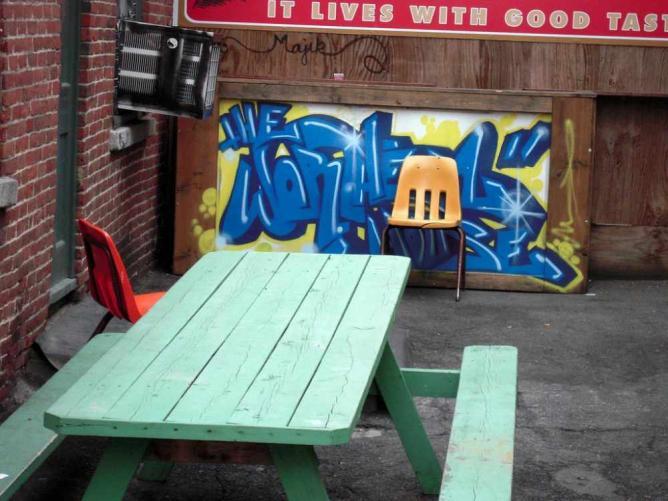 Worthen House Lowell Street Graffiti