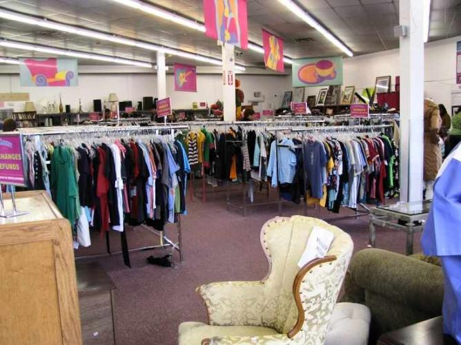 Inside the thrift store © Out of the Closet Thrift