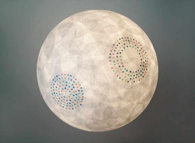 A Lumira lampshade | Courtesy of Lumira