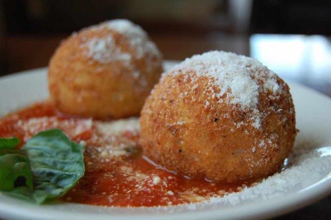 Traditional Sicilian Arancini   © stu_spivack/Flickr