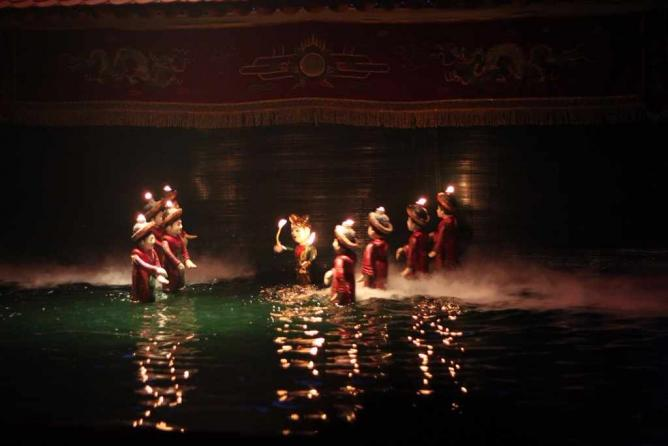 Water puppet theatre performance | © Kriti Bajaj
