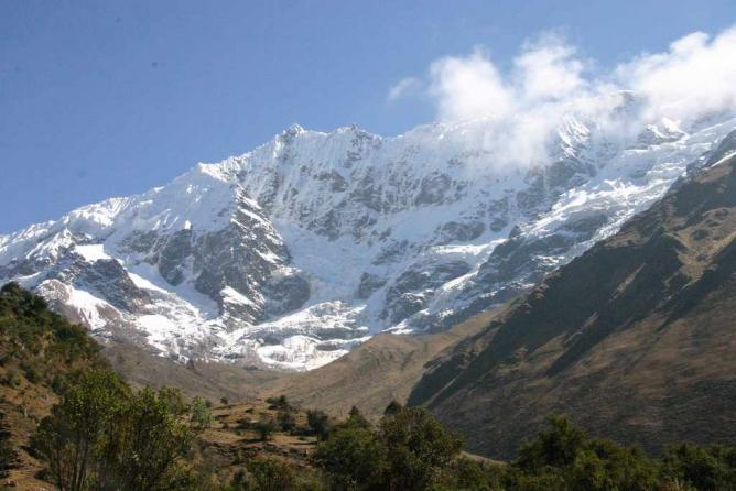 View from Salkantay Trek in Peru