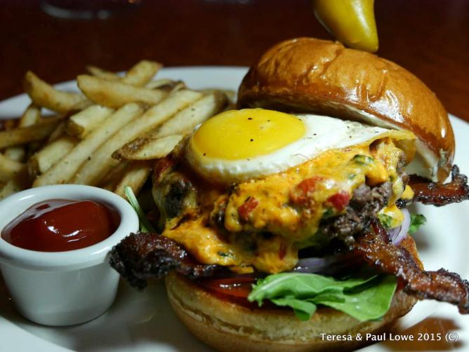 The juicy, flavorful 702 Burger created by Executive Sous Chef Shaun Schuette.