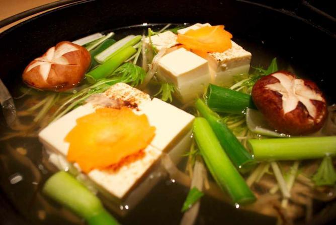 Tofu dish at Hakkakuan