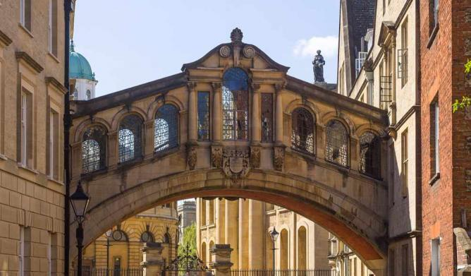 The 'Bridge of Sighs' at Hertford College   © Godot13/Wikicommons