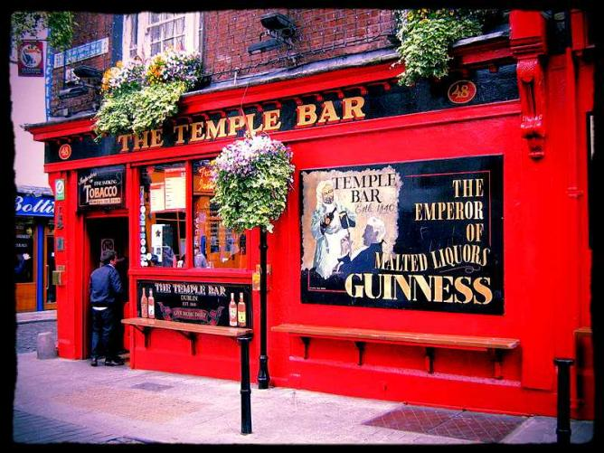 The expressive exterior of The Temple Bar