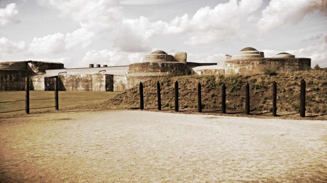 A Prisoner's Final View: Firing Squad and the Fort   © Rory McInnes-Gibbons