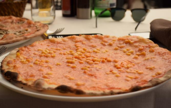Pizza at L'Antica Piazzetta